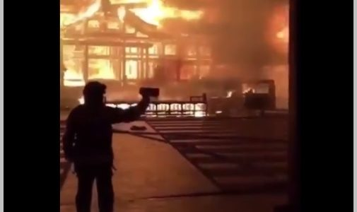 【首里城火災】内部を撮影したのは誰?消防関係者との情報も!動画